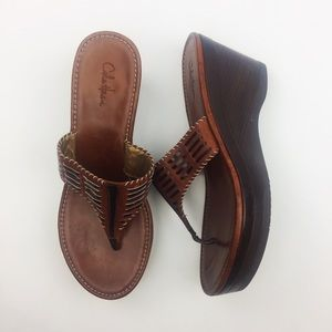 Cole Haan Nike Air Wedge Leather Sandal (size 9B)